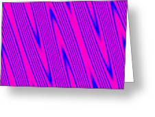 Pink And Blue Abstract Greeting Card