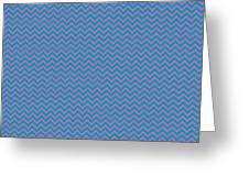 Pink And Blue Chevron Greeting Card