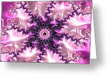Pink And Purple Soft And Creamy Fractal Art Greeting Card
