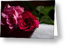 Pink And Red Rose Greeting Card