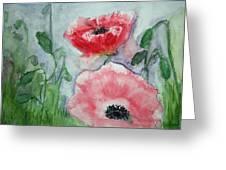 Pink Anemones Greeting Card
