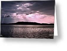 Pink Angel Rays -sunrise Greeting Card