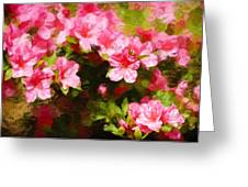 Pink Azealas Greeting Card