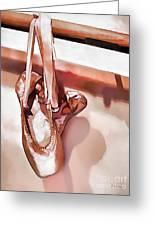 Pink Ballerinas Greeting Card