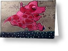 Pink Beastie Greeting Card