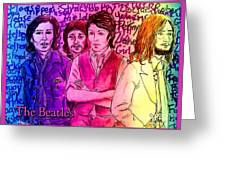 Pink Beatles From Rainbow Series Greeting Card