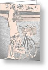 Pink Bike Greeting Card
