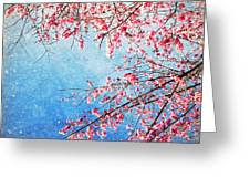 Pink Blossom Greeting Card by Setsiri Silapasuwanchai
