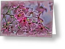 Pink Blossoms - Paint Greeting Card