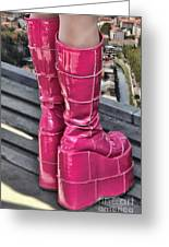 Pink Boots Greeting Card