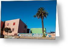 Pink Building In Historic Neighborhood Greeting Card