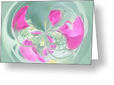 Pink California Poppy Orb Greeting Card
