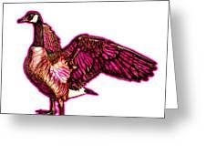 Pink Canada Goose Pop Art - 7585 - Wb Greeting Card