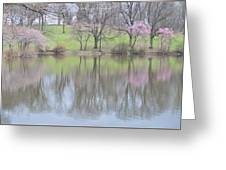 Pink Cherry Reflections Greeting Card