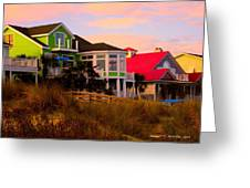 Pink Clouds At Isle Of Palms Greeting Card