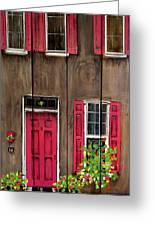 Pink Door Greeting Card
