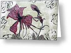 Pink Dragonfly Flora Greeting Card