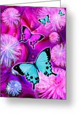 Pink Fantasy Flower Greeting Card