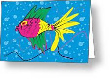 Pink Fish Greeting Card