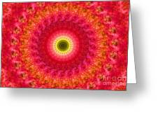 Pink Floral Pattern Greeting Card
