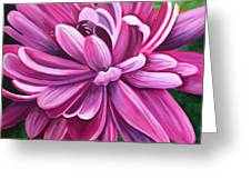 Pink Flower Fluff Greeting Card