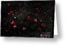 Pink Flowers In Twilight Greeting Card