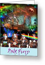 Pink Floyd Collage Greeting Card