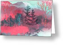 Pink Forest Greeting Card