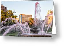 Pink Fountain For Breast Cancer Greeting Card by Terri Morris