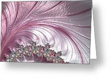 Pink Froth A Fractal Abstract Greeting Card