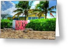 Pink Gate Greeting Card