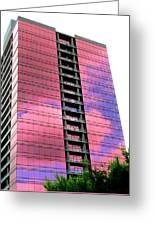 Pink Glass Buildings Can Be Pretty Greeting Card