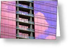 Pink Glass Clouds Greeting Card