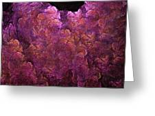 Pink Hydrangea Fractal Blossoms Greeting Card