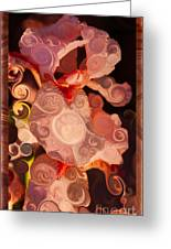 Pink Iris As A Burst Of Color Flower Abstract Art Greeting Card