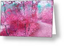Pink Landscape Greeting Card