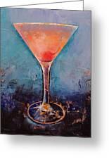 Pink Lemonade Martini Greeting Card