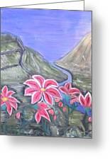 Pink Lillies Greeting Card