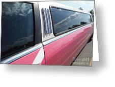 Pink Limousine Greeting Card