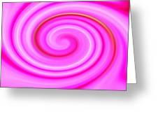 Pink Lollipop Swirl Greeting Card