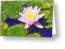 Pink Lotus At Waikoloa Greeting Card