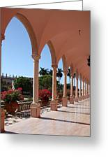 Pink Marble Colonnade Greeting Card