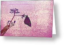 Pink Monarch Greeting Card