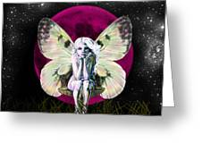 Pink Moon Fairy Greeting Card by Diana Shively