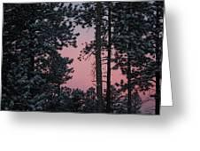 Pink Mountain Morning Greeting Card