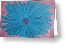 Pink N Blue Greeting Card