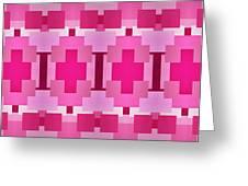 Pink On Pink Panorama 4 Greeting Card