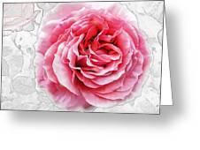 Pink On White Greeting Card