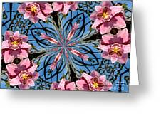 Pink Orchid Kaleidoscope 2 Greeting Card