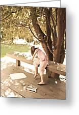 Pink Painter Greeting Card